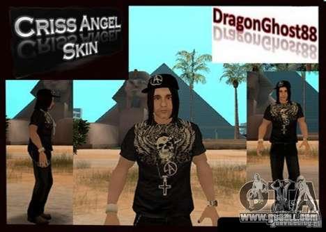 Criss Angel Skin for GTA San Andreas