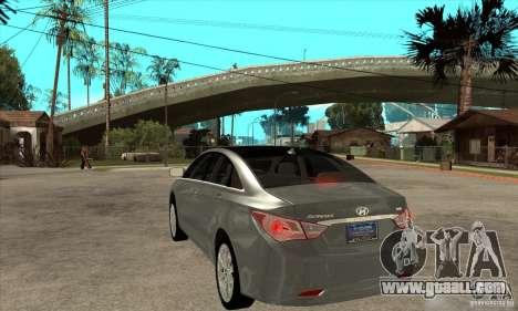 Hyundai Sonata 2011 for GTA San Andreas back left view