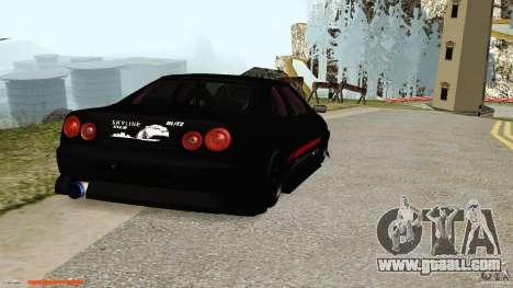 Nissan Skyline ER34 for GTA San Andreas right view