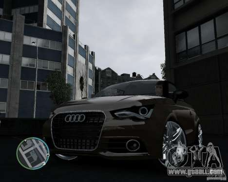 Audi A1 v.2.0 for GTA 4 back left view