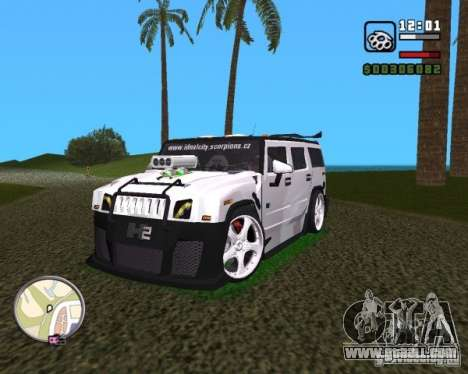 AMG Hummer H2 Hard Tuning v2 for GTA Vice City right view