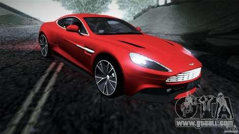 Aston Martin Vanquish V12 for GTA San Andreas left view