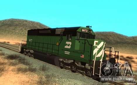 Locomotive SD 40 Burlington Northern 8072 for GTA San Andreas