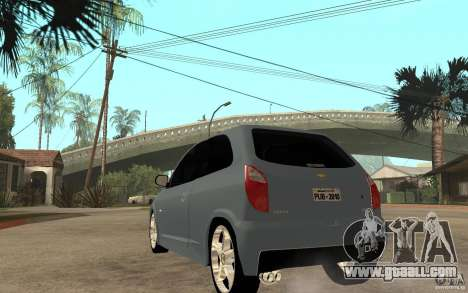 Chevrolet Celta VHC 2011 for GTA San Andreas back left view