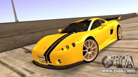 Ascari A10 for GTA San Andreas inner view