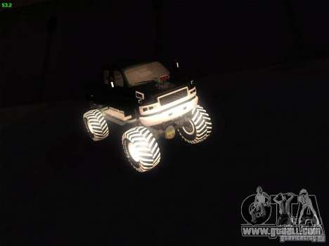 GMC Monster Truck for GTA San Andreas back left view