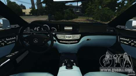 Mercedes-Benz S65 AMG 2012 v1.0 for GTA 4 inner view