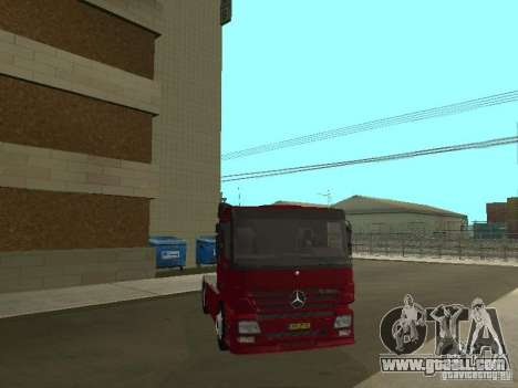 Mercedes Actros Tracteur 3241 for GTA San Andreas inner view