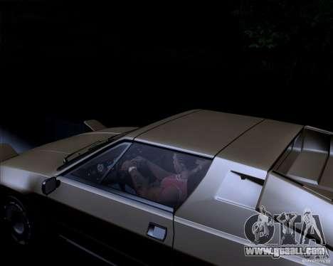 Lamborghini Jalpa 3.5 1986 for GTA San Andreas inner view