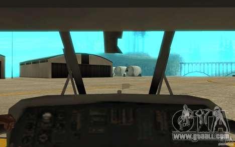 UH-60 Black Hawk for GTA San Andreas inner view