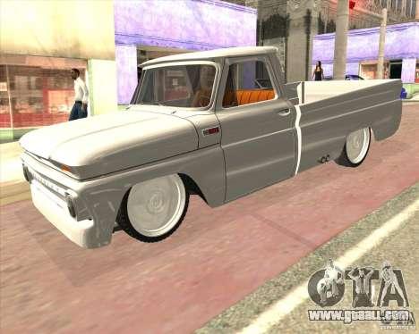 Chevrolet C10 1966 Low Gray for GTA San Andreas