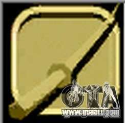 Gold Katana for GTA Vice City third screenshot