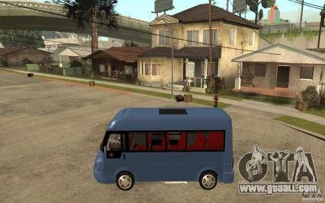 Karsan J10 for GTA San Andreas left view