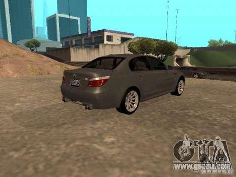 BMW M5 E60 2009 v2 for GTA San Andreas left view