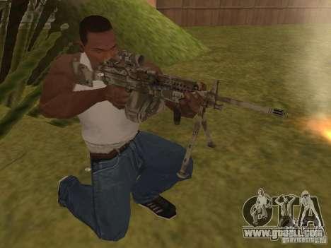 Machine gun MK-48 for GTA San Andreas second screenshot