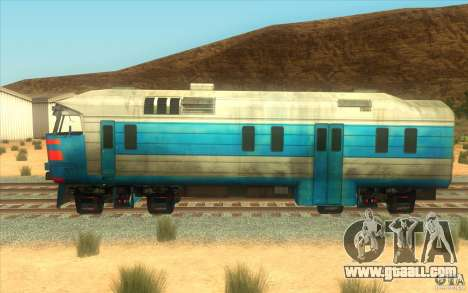 A train from the game half-life 2 for GTA San Andreas back left view