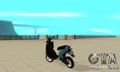 GTAIV Faggio for GTA San Andreas back left view