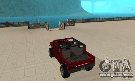Hummer Civilian Vehicle 1986 for GTA San Andreas back left view