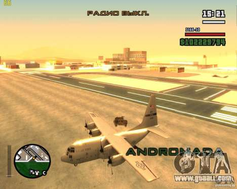 C-130 hercules for GTA San Andreas right view