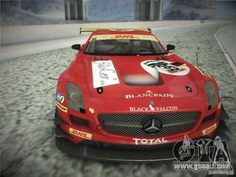 Mercedes-Benz SLS AMG GT3 Black Falcon 2011 for GTA San Andreas left view