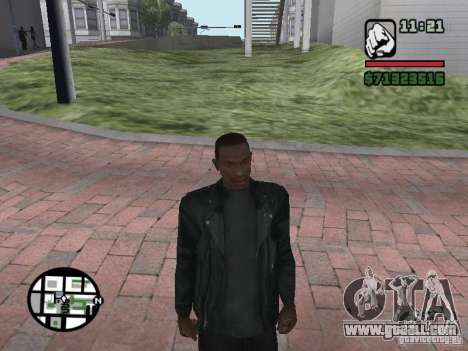 Jacket without a picture from behind for GTA San Andreas second screenshot