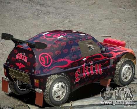 Mitsubishi Pajero Proto Dakar EK86 Vinyl 4 for GTA 4 back left view