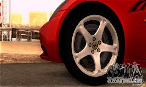 Ferrari California V3 for GTA San Andreas inner view