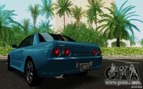 Nissan Skyline GT-R R32 1993 Tunable for GTA San Andreas back view