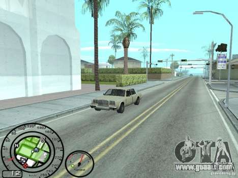 Speedometer with fuel gauge for GTA San Andreas second screenshot
