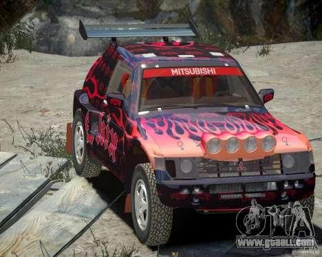 Mitsubishi Pajero Proto Dakar EK86 Vinyl 4 for GTA 4 upper view