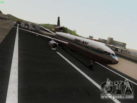 McDonell Douglas DC-10-30 PanAmerican Airways for GTA San Andreas back left view