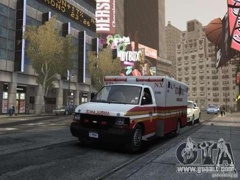Chevrolet Ambulance FDNY v1.3 for GTA 4 inner view