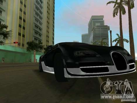 Bugatti Veyron Extreme Sport for GTA Vice City left view