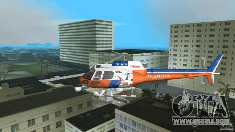 Eurocopter As-350 TV Neptun for GTA Vice City inner view