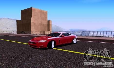 Jaguar XKRS for GTA San Andreas back view