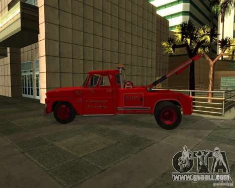 Chevrolet C20 Towtruck 1966 for GTA San Andreas left view