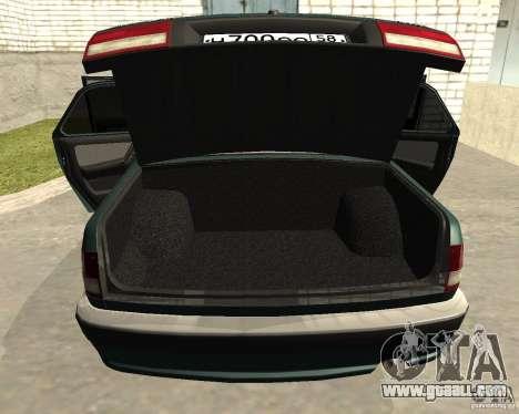 Volga GAZ 3110 for GTA San Andreas inner view