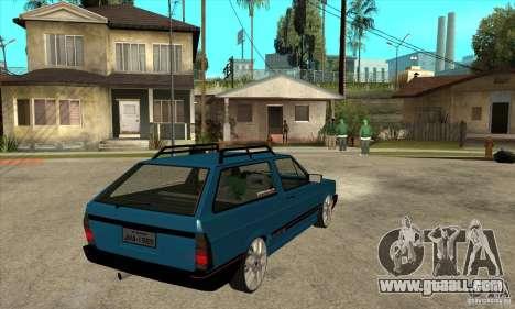 VW Parati GLS 1989 JHAcker edition for GTA San Andreas right view