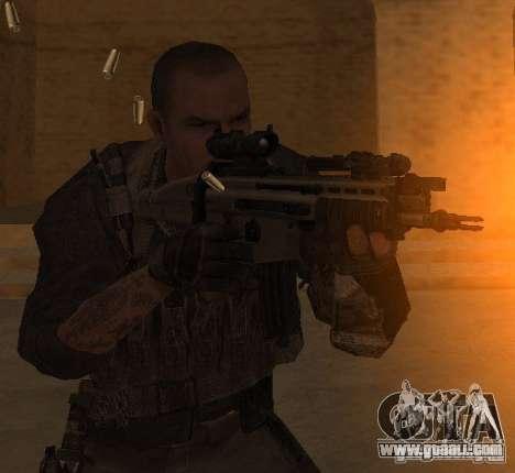 Yuri from Call of Duty Modern Warfare 3 for GTA San Andreas third screenshot