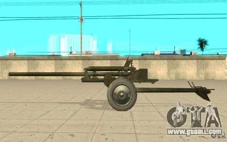 Gun ZiS-2 for GTA San Andreas left view