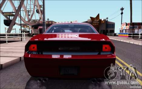 Dodge Challenger Rampage Customs for GTA San Andreas upper view