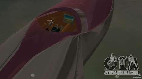 Bugatti Sang Bleu Speedboat for GTA Vice City back view