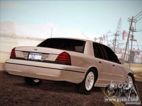 Ford Crown Victoria Interceptor for GTA San Andreas side view
