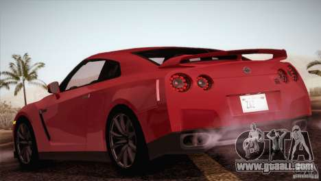 Nissan GTR Black Edition for GTA San Andreas right view