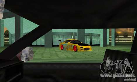 Mazda Rx7 for GTA San Andreas side view
