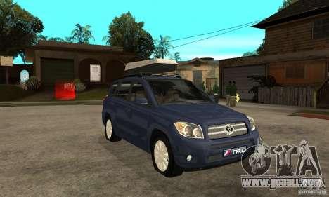 Toyota RAV4 V2 for GTA San Andreas back view