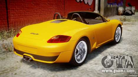 Ruf RK Spyder v0.8Beta for GTA 4 upper view