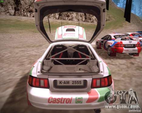 Toyota Celica ST-205 GT-Four Rally for GTA San Andreas back view