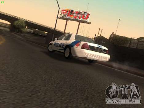 Ford Crown Victoria Vancouver Police for GTA San Andreas inner view