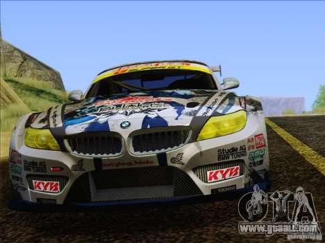 BMW Z4 E89 GT3 2010 Final for GTA San Andreas interior